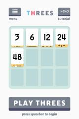 Threes! Browser Main menu