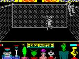 Cage Match ZX Spectrum The opponent climbs up the cage......