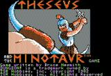 Theseus and the Minotaur Apple II Title screen