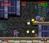 Super Turrican 2 SNES The second stage is a destroyed city - note how the Rebound bounces up the wall.