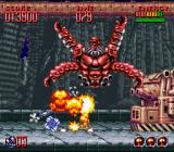 Super Turrican 2 SNES The ability to go into wheel-mode is often used in bossfights.