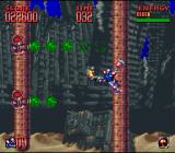 Super Turrican 2 SNES One of the linear levels - escape the poisoness gas!