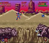 Super Turrican 2 SNES Jumping from giant sandworm to giant sandworm.