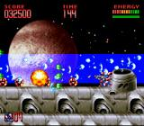 Super Turrican 2 SNES On a spaceship