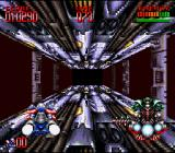 Super Turrican 2 SNES A 3D-level - evade the drill and ram your enemy