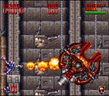 Super Turrican 2 SNES The flamethrower is the strongest weapon in the game, but it is also the one with the shortest range.