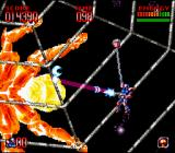 Super Turrican 2 SNES In the web of a giant spider
