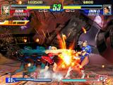 Capcom Fighting Evolution PlayStation 2 Chun Li under ferocious attack in Darkstalker land.
