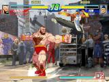 Capcom Fighting Evolution PlayStation 2 Zangief marks his territory.