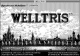 Welltris Macintosh Title screen (B&W)