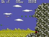 Aerial Assault SEGA Master System Cliff fortress