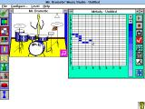 Mr. Drumstix' Music Studio Windows 3.x Making a rhythm.