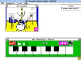 Mr. Drumstix' Music Studio Windows 3.x In Follow the Leader, the player has to click on the same notes that the keyboard played.