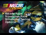 NASCAR Racing PlayStation Main menu