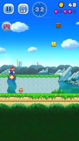 Super Mario Run Android Those arrow blocks stop Mario for a while.