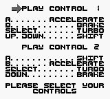 Chase H.Q. Game Boy Play Control.
