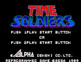 Time Soldiers SEGA Master System Title