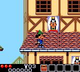 Legend of Illusion starring Mickey Mouse Game Gear Wow! I'm on a roof, and I see Goofy's picture!