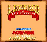 Legend of Illusion starring Mickey Mouse Game Gear Title screen