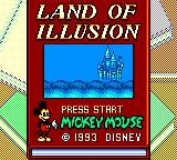 Land of Illusion starring Mickey Mouse Game Gear ...to become the title screen