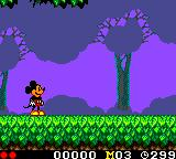 Land of Illusion starring Mickey Mouse Game Gear Starting the game