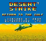 Desert Strike: Return to the Gulf Game Gear Title screen