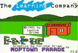 Moptown Parade Apple II Title screen