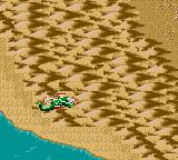 Desert Strike: Return to the Gulf Game Gear Desert surrounded by mountains