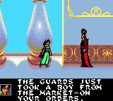 Disney's Aladdin Game Gear Princess is talking to Jaffar