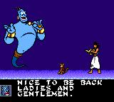 Disney's Aladdin Game Gear Genie appears