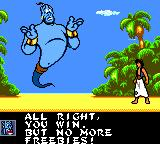 Disney's Aladdin Game Gear Genies always talk that way