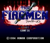 The Firemen SNES Title screen (Japanese release)