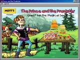 Mott's Presents The Prince and the Prankster: The Quest for the Magical Seeds Windows 3.x Title Screen