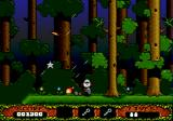 The Fantastic Adventures of Dizzy Genesis Forest at night