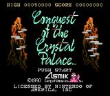 Conquest of the Crystal Palace NES Title screen (US)