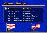 FIFA International Soccer Genesis Main menu