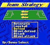 FIFA International Soccer Game Gear Team Strategy