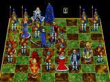 Battle Chess: Enhanced CD-ROM FM Towns Red Knight takes out blue Knight Monty Python style