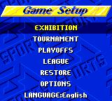 FIFA International Soccer Game Gear Main menu