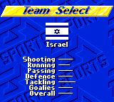 FIFA International Soccer Game Gear Team Select
