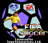 FIFA International Soccer Game Gear Title screen