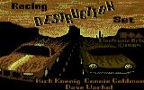 Racing Destruction Set Commodore 64 Title Screen (US Disk Version)
