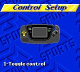 FIFA International Soccer Game Gear Control Setup