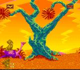 The Lion King SNES Riding an ostrich
