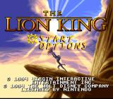 The Lion King SNES Title screen