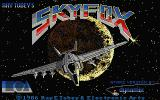 Skyfox Atari ST Title screen