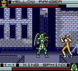 Mighty Morphin Power Rangers Game Gear Fighting King Sphinx