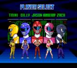 Mighty Morphin Power Rangers SNES Selecting your character