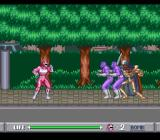 Mighty Morphin Power Rangers SNES In your robotic suit, you fight in a garden
