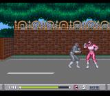 Mighty Morphin Power Rangers SNES Fighting near a fence